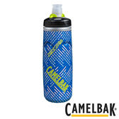 Camelbak 750ml 加大保冷噴射水瓶 飛速藍【好動客】