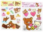 【卡漫城】 拉拉熊 造型 大 貼紙 二張組 ㊣版 台灣製 特大張 懶懶熊 Rilakkuma 佈置 裝飾貼 壁貼