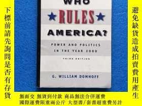 二手書博民逛書店Who罕見Rules America?Y261601 G. William Domhoff Mcgraw-hi