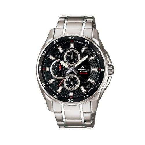 CASIO 簡約時尚三眼計時腕錶(黑)/EF-334D-1AVUDF