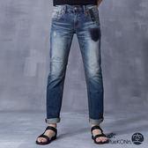 【夏季優惠↘5折】復古口袋中低腰直筒褲(深藍) - BLUEWAY BLUEKONn.原自己空