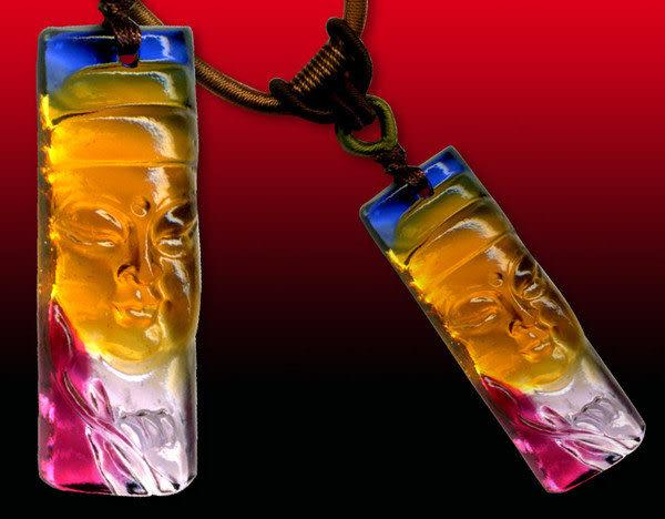 鹿港窯~居家開運水晶琉璃項鍊~佛心 附精美包裝◆免運費送到家