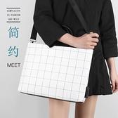 格紋筆電包肩背包筆記本電腦包手提包適用11吋12吋14吋15.6吋內膽包 樂淘淘