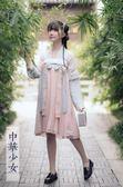 漢服夏裝女長裙改良中國風學生短款儒裙