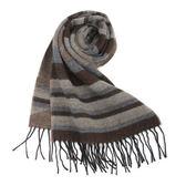 Vivienne Westwood 經典LOGO 骷顱頭條紋圍巾(咖啡色)910524