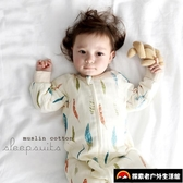 兒童睡袋純棉四季通用兒童長袖分腿睡袋寶寶防踢被