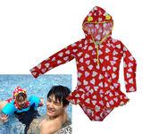 長袖連身防曬 防寒衣 兒童泳裝 水母衣 泳衣 童 泳裝 橘魔法 Baby magic 現貨 兒童 童裝