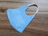 限量特價~鼻恩恩醫用超立體3D口罩@兒幼童-藍色@細耳帶無壓條台灣製一盒50片 約2~11歲 無痛耳帶