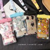 手機防水袋 透明卡通iPhone7/8plus/6觸屏游泳蘋果X潛水套沙灘