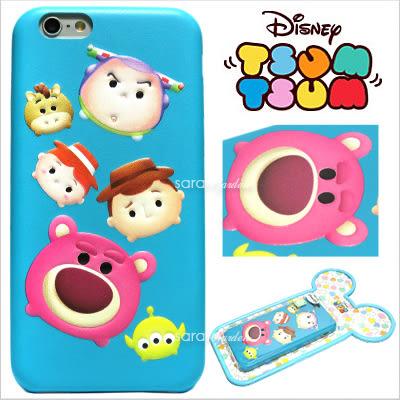 免運 官方授權 迪士尼 Tsum Tsum 疊疊樂 立體 皮革 Q版 iPhone 6 6S Plus 手機殼 保護套 皮套 玩具總動員