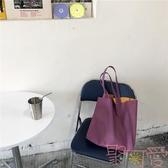 荔枝紋托特包 百搭單肩購物袋軟大包包女【聚可愛】
