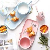 創意陶瓷日式餐具帶把早餐碗沙拉碗泡面碗麥片碗甜品下午茶套裝中元特惠下殺
