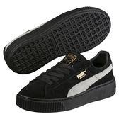 Puma Platform Suede 女 黑色 板鞋 經典復古網球鞋 休閒鞋 增高鞋 板鞋 工作鞋 滑板鞋 36471803