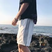 男短褲 港風休閒五分褲男士寬鬆短褲男韓版潮流夏季薄款運動百搭沙灘褲子 2色