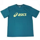 【ASICS 亞瑟士】2018台灣製 短袖T恤 運動T恤 抗UV 吸汗速乾 K31401-80 綠 [陽光樂活]