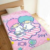【享夢城堡】薄刷毛毯100x150cm-雙星仙子Little TwinStars 享樂生活-粉