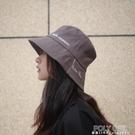 【7cm】個性刺繡漁夫帽銀灰色大帽檐遮陽盆帽子女休閒出游百搭秋 夏季新品