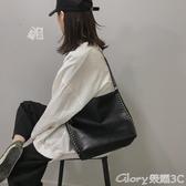 托特包包包女新款潮斜背學生秋冬大容量百搭側背時尚錬條托特包新年禮物
