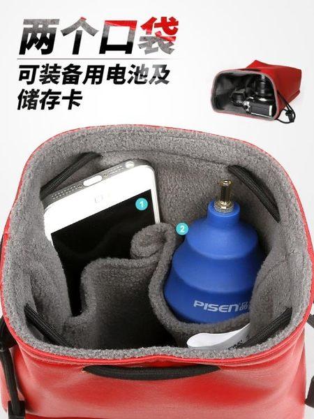 可愛數碼攝影5d4單反m100微單電池收納袋防水佳能m6相機包g7x2便
