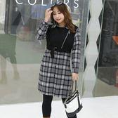 中大尺碼~前襟拉鍊長袖襯衫上衣(XL~4XL)