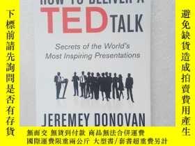 二手書博民逛書店HOW罕見TO DELIVER A TED TALK【英文原版、