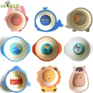 美國COECO竹纖維餐具寶寶碗卡通可愛吃飯飯碗便攜嬰兒輔食兒童碗 小明同學