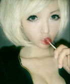 【WD】 W079 cosplay 米白色短髮 斜流海 時尚日韓bobo頭假髮 高溫絲  每一頂都送髮網 鋼梳  龐克 派對