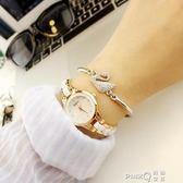 手錶女學生韓版簡約休閒大氣時尚潮流復古手鏈錶女士防水石英女錶  【PINKQ】