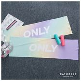 Catworld ONLY漸層色英文字運動毛巾(小版)【18003131】‧F