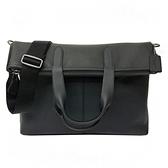 【COACH】專櫃款反折雙口袋男款手提斜背包(黑)