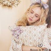 Maison de FLEUR ♡ 碎花柄蝴蝶結絲帶抱枕套 - Maison de FLEUR