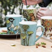 手繪大容量創意咖啡馬克杯個性陶瓷杯子套裝情侶水杯早餐牛奶杯 mj8043【野之旅】