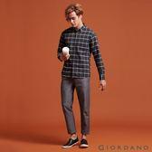 【GIORDANO】男裝腰鬆緊抽繩純棉九分褲 - 19 細紋黑