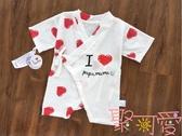 寶寶紗布和服新生兒系帶連體衣衣服夏純棉薄款【聚可愛】