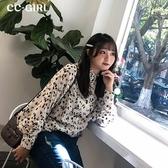 中大尺碼 立領斑點襯衫上衣~共兩色 - 適XL~4L《 68015HH 》CC-GIRL