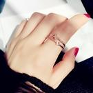 蝴蝶開口日韓人大氣個性學生Chic極簡食指環冷淡風戒指女