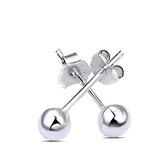 925純銀耳環(耳針式)-生日情人節禮物光面小圓球簡約百搭女飾品5款73ag85[巴黎精品]