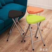 折疊椅  家用便攜式凳子結實餐椅凳戶外釣魚凳馬扎塑料凳 KB9073【野之旅】