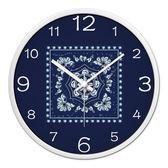 掛鐘 民族風時鐘簡約客廳裝飾掛鐘 圓形掛表餐廳飯店掛表特色石英鐘表