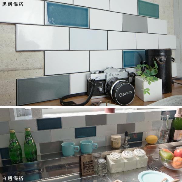地鐵磚 馬賽克貼片 3D立體壁貼 磁磚貼 自黏馬賽克 馬賽克磁磚DIY【曼哈頓甜甜圈-半片/2入一組】