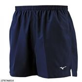Mizuno [J2TB7A6014] 男女 運動 跑步 路跑 輕量 吸汗 速乾 舒適 三分 寬鬆 短褲 深藍