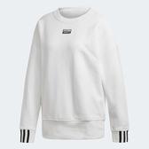 X-adidas ORIGINALS SWEATSHIRT 女裝 長袖 大學T 休閒 純棉 基本款 白 ED5847