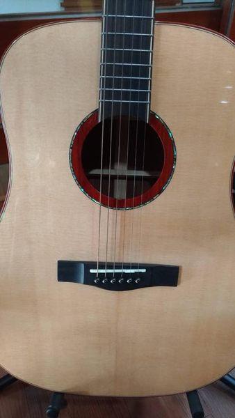 凱傑樂器 MIDDLE 全單板 雲杉木面單板 桃花心側背 木吉他