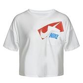 Nike AS W Dry Grx Crop Top 女 白 短版 寬鬆 口袋 休閒 短袖 DC7190-100