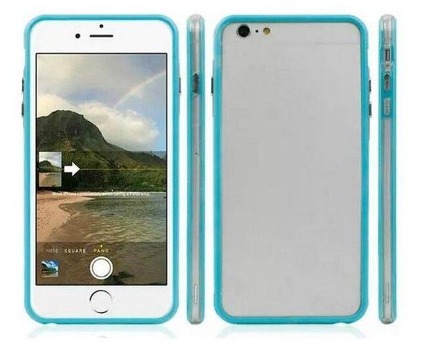 【SZ】iphone 6s 手機殼 純色透明邊框 iPhone 6 Plus 5.5 吋 iphone5/5S/SE 保護殼