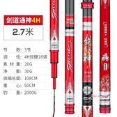 釣竿 釣魚竿手竿日本進口碳素28調超輕超硬台釣竿19調鯽鯉魚桿T