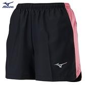 MIZUNO 女裝 短褲 慢跑 路跑 褲口反光 兩側拉鍊口袋 單層 黑粉【運動世界】J2TB125496