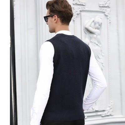 羊毛背心-時尚帥氣舒適V領無袖男針織衫4色73ig14[時尚巴黎]