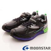 【MOONSTAR】日本月星競速童鞋-閃電星宇系列(中大童)藍綠-SSJ7416