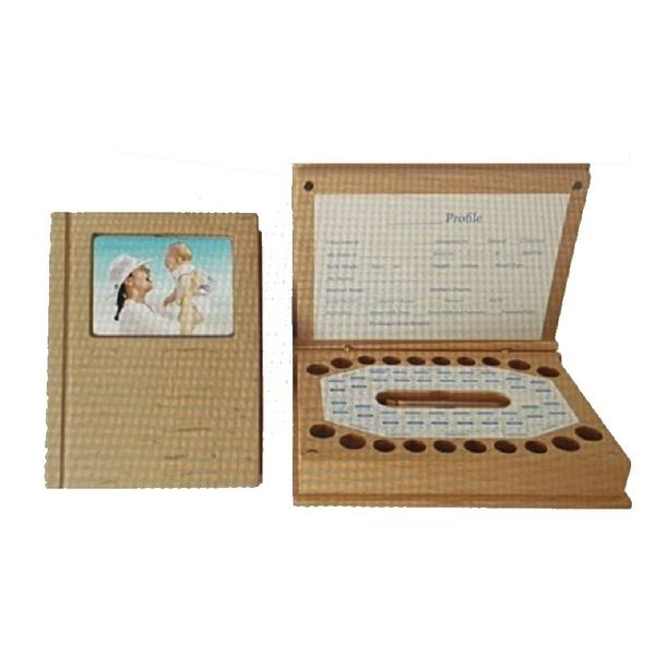 [9美國直購] 木製乳牙紀念盒 Baby Tooth Fairy Box (Tooth Keepsake Box for Kids) B07TSVQDSD